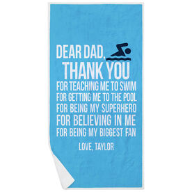 Swimming Premium Beach Towel - Dear Dad