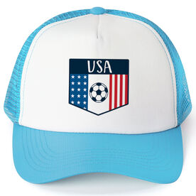 Soccer Trucker Hat - USA Crest