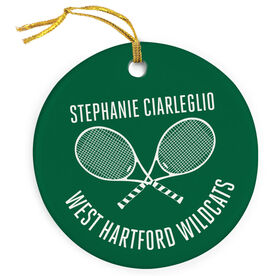 Tennis Porcelain Ornament Personalized Player and Team
