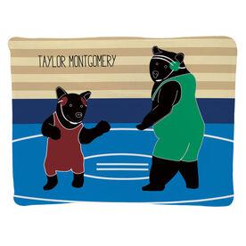 Wrestling Baby Blanket - Bears