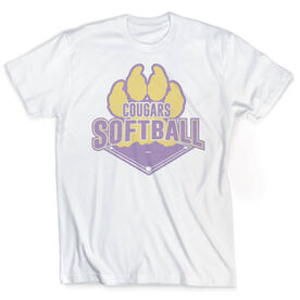 Vintage Softball T-Shirt - Your Logo