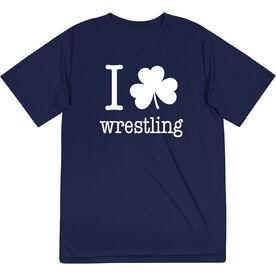 Wrestling Short Sleeve Performance Tee - I Shamrock Wrestling