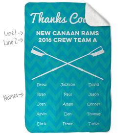 Crew Sherpa Fleece Blanket - Personalized Thanks Coach Chevron