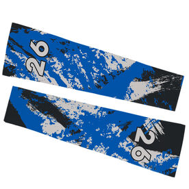 Football Printed Arm Sleeves - Football Grunge with Number