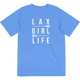 Girls Lacrosse Short Sleeve Performance Tee - Lax Girl Life
