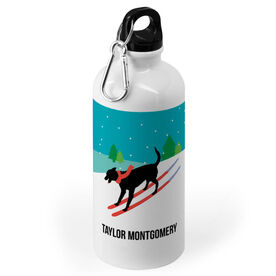 Skiing 20 oz. Stainless Steel Water Bottle - Vintage Dog