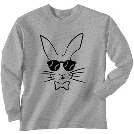 Softball Tshirt Long Sleeve Hopster Softball Bunny