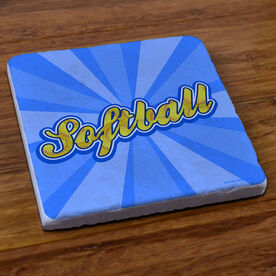 Varsity Softball Rays - Stone Coaster