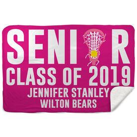 Sherpa Fleece Blanket - Personalized Lacrosse Senior Class Of