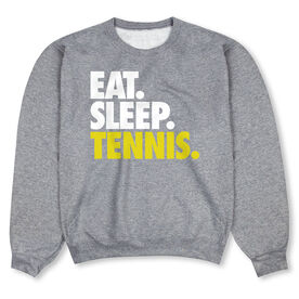 Tennis Crew Neck Sweatshirt - Eat Sleep Tennis (Bold)