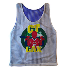 Guys Lacrosse Pinnie - Connecticut