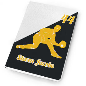 Baseball Notebook Personalized Fielder Silhouette