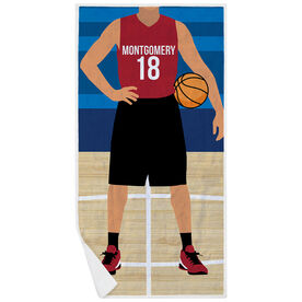 Basketball Premium Beach Towel - Player