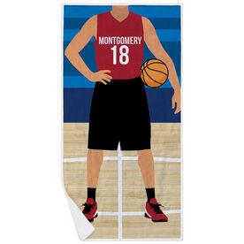 Basketball Premium Beach Towel - Player