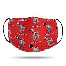 Seams Wild Baseball Face Mask - Rojo Chomp (Pattern)
