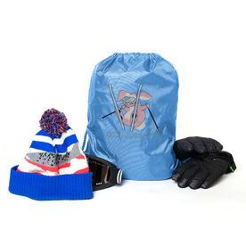 Skiing Sport Pack Cinch Sack Ski Bunny