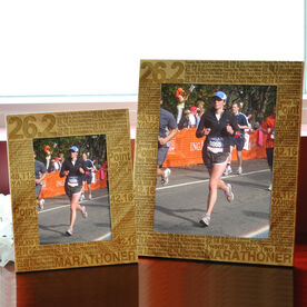 Bamboo Engraved Picture Frame 26.2 Math Miles