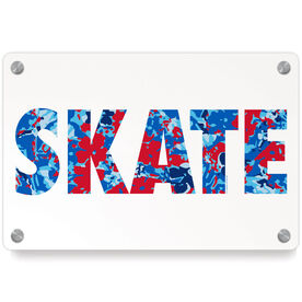Figure Skating Metal Wall Art Panel - Floral Skate