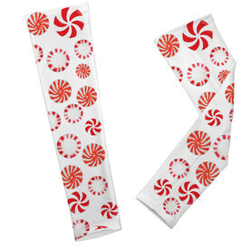 Running Printed Arm Sleeves Peppermint Candy