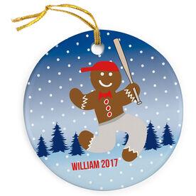 Baseball Porcelain Ornament Gingerbread Man