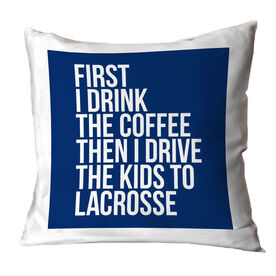 Lacrosse Throw Pillow - Then I Drive The Kids To Lacrosse