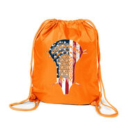 Guys Lacrosse Sport Pack Cinch Sack - Patriotic Stick