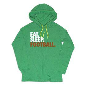 Men's Football Lightweight Hoodie - Eat Sleep Football