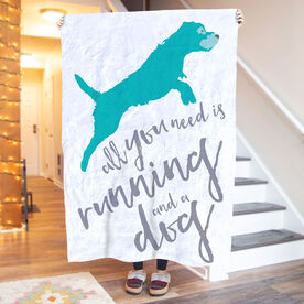 Running Premium Blanket - All You Need Is Running And A Dog