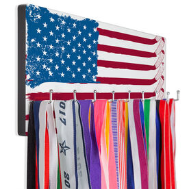 Hockey Hooked on Medals Hanger - American Flag