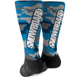 Snowboarding Printed Mid-Calf Socks - Top Snowboarding