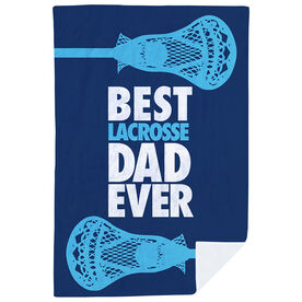 Guys Lacrosse Premium Blanket - Best Dad Ever