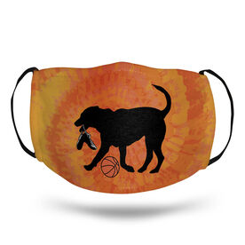 Basketball Face Mask - Baxter the Basketball Dog Tie-Dye