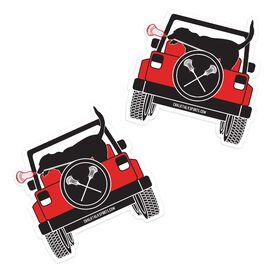 Guys Lacrosse Stickers - Chillax Cruiser (Set of 2)