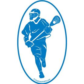 Fast Break Lacrosse Oval Car Magnet (Blue)