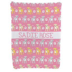 Personalized Baby Blanket - Dogs