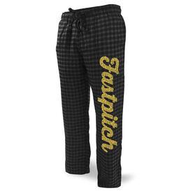 Softball Lounge Pants Fastpitch Script