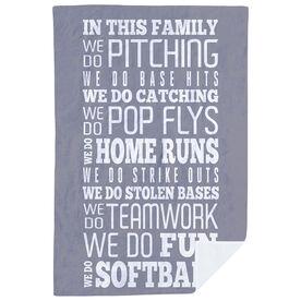 Softball Premium Blanket - We Do Softball