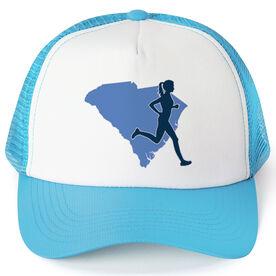 Running Trucker Hat - South Carolina Female Runner