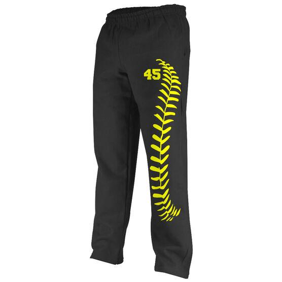 Baseball Fleece Sweatpants Baseball Stitches With Number