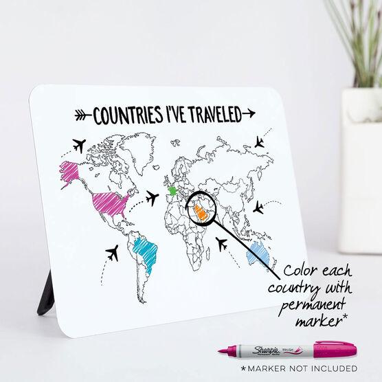 Desk Art - Countries I've Traveled Outline