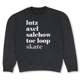 Figure Skating Crew Neck Sweatshirt - Figure Skating Mantra Skate