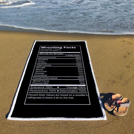 Wrestling Premium Beach Towel - Facts