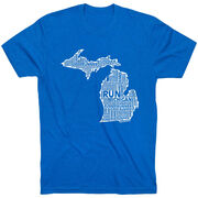 Running Short Sleeve T-Shirt - Michigan State Runner