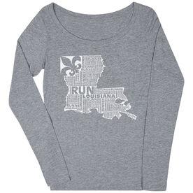 Women's Scoop Neck Long Sleeve Runners Tee Louisiana State Runner