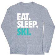 Skiing & Snowboarding Tshirt Long Sleeve - Eat. Sleep. Ski