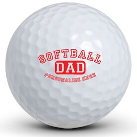 Softball Dad (Block Logo) Golf Balls