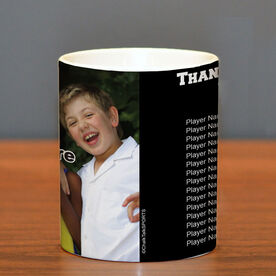 Personalized Coffee Mug Thanks Coach Custom Photo With Team Roster