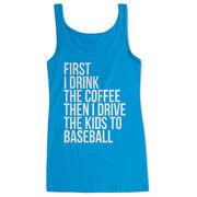 Baseball Women's Athletic Tank Top - Then I Drive The Kids To Baseball
