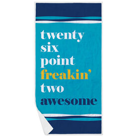 Running Premium Beach Towel - Awesome Mantra
