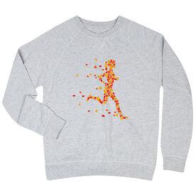 Running Raglan Crew Neck Sweatshirt - Leaf Runner